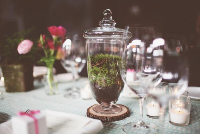 moss terrarium centerpiece