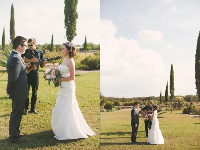 Texas garden elopement ceremony