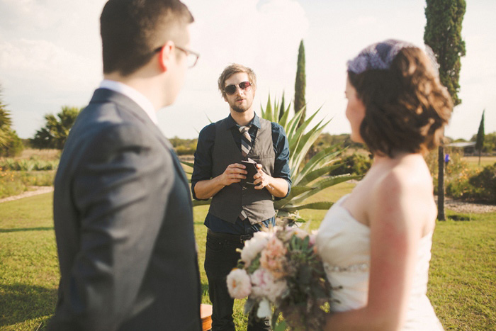 hipster wedding officiant