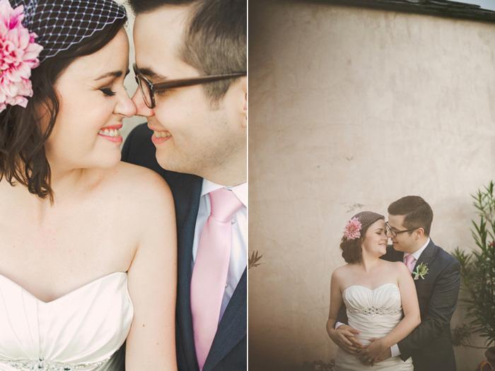 bride and groom Texas garden wedding