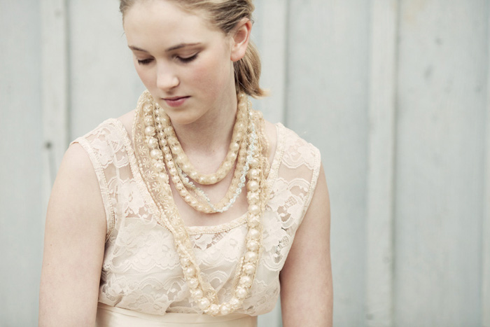 chunky pearl necklaces