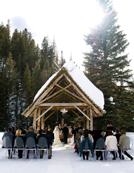 Dunton Hot Springs winter wedding