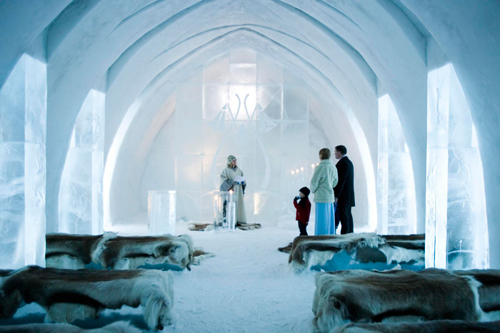 Swedish Ice Hotel Wedding