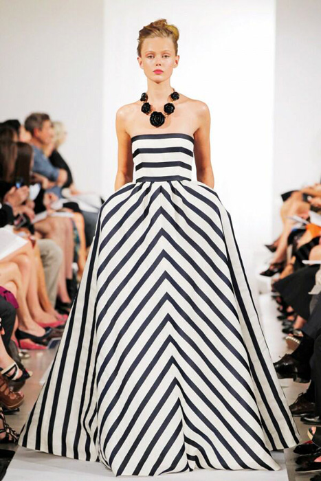 Striped dress 2013 images galleries for Wedding dress with stripes
