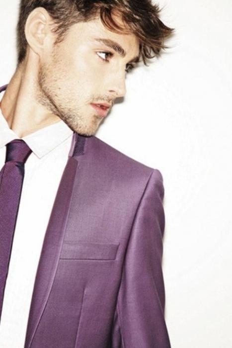 dusty purple suit