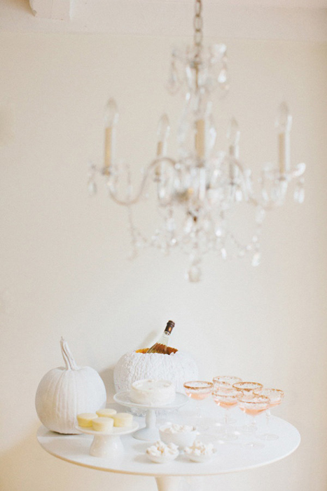 elegant pumpkin decor