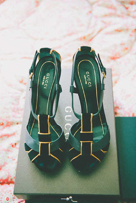 green gucci wedding shoes