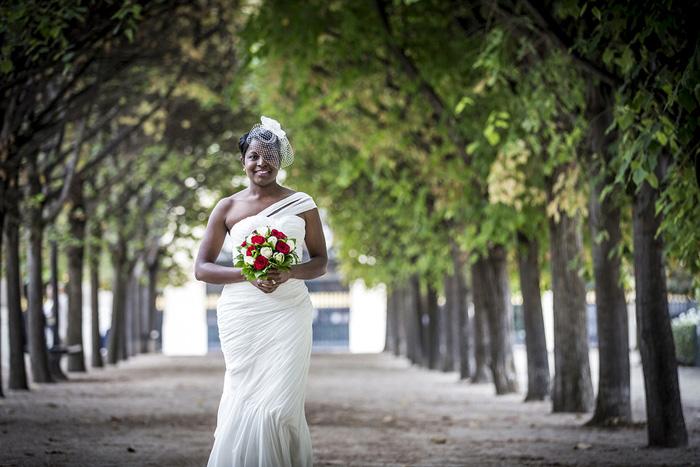 Paris elopement in Garden