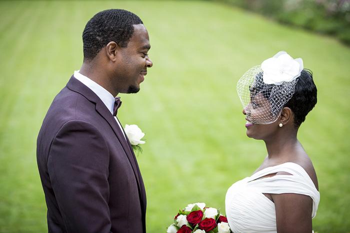 Paris garden elopement ceremony
