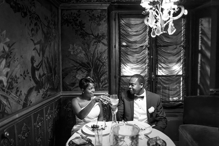 Paris restaurant elopement reception