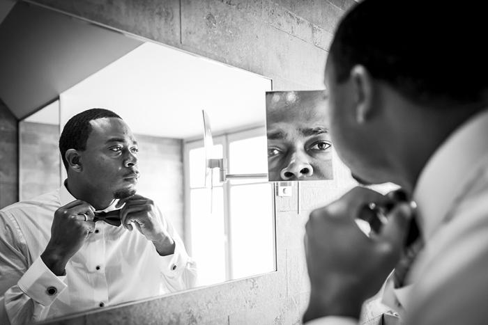 groom getting ready in Paris