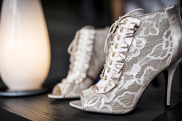 lace wedding booties