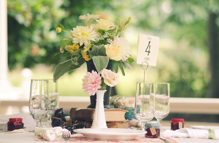 Marshall House wedding reception table