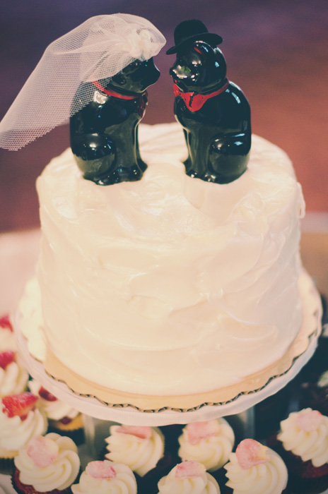 black cat cake toppers