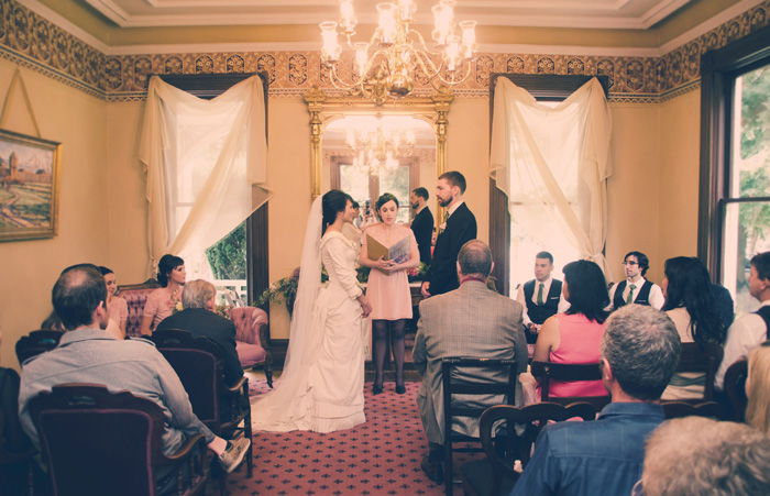 Marshall House wedding ceremony