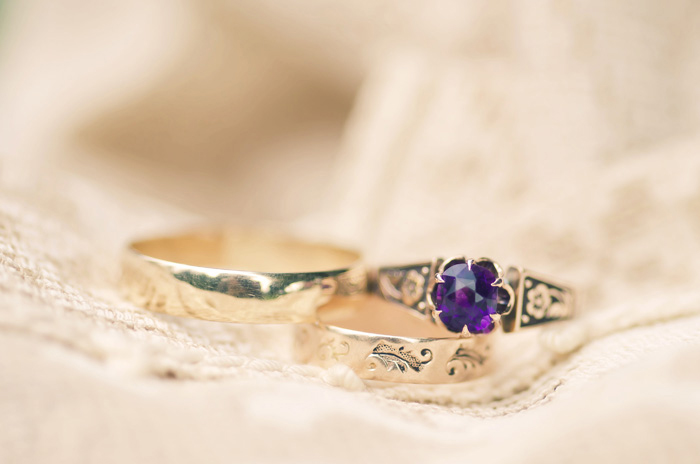 purple engagement ring