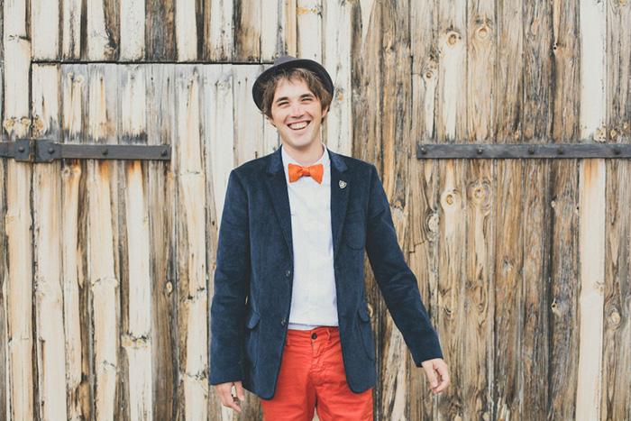 orange suit pants