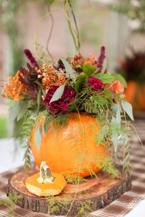 Elegant pumpkin wedding decor ideas