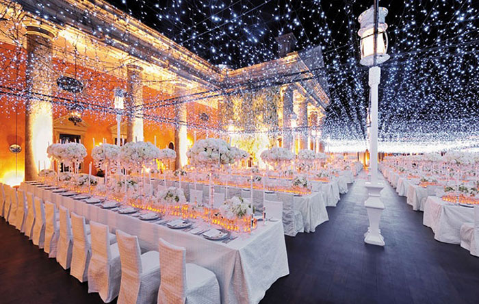 starry night lighting & Creative Lighting Options for your Wedding Day