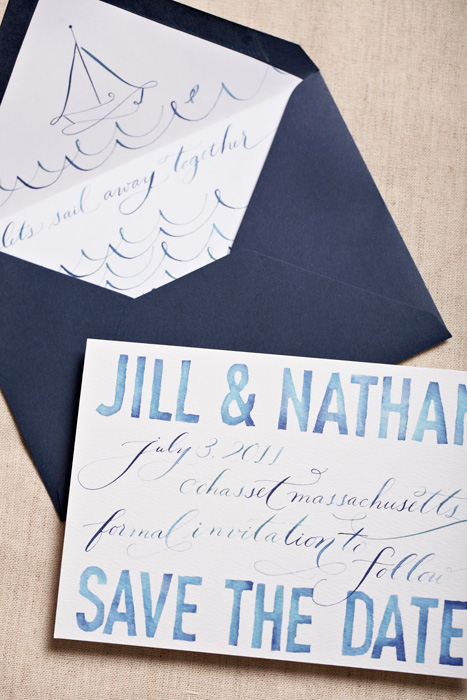 watercolor nautical save the date