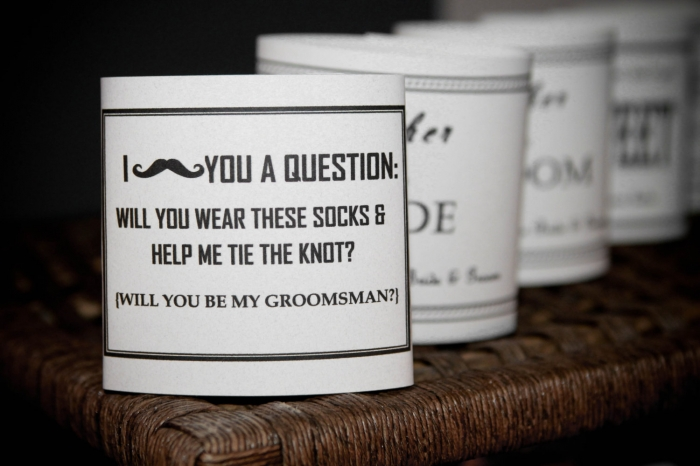 How to ask groomsmen to be in your wedding unique wedding ideas wedding socks at cutencrafty junglespirit Gallery
