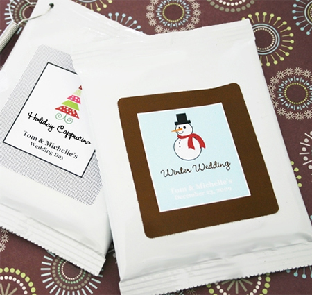 holiday cappuccino favors