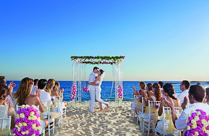 Secrets Puerto Los Cabos wedding on the beach