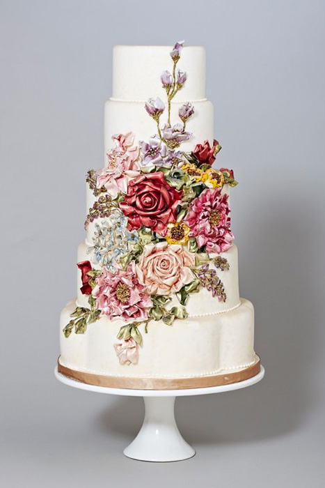 Wedding Trend Hand Painted Wedding Cakes
