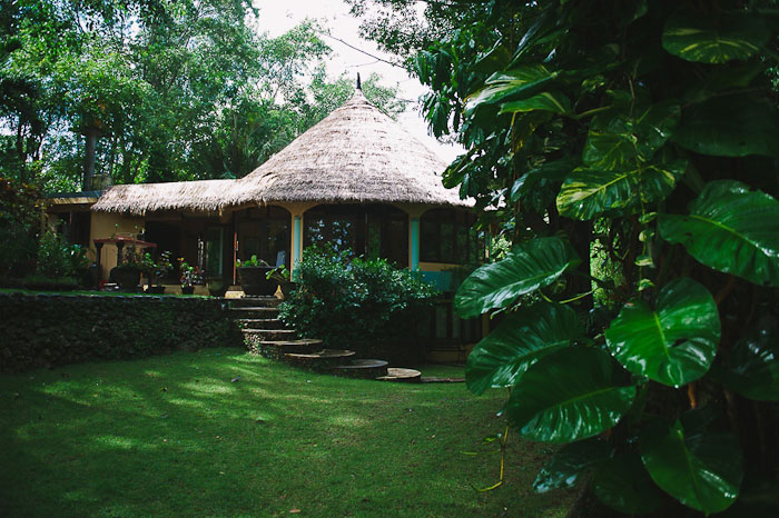 thatched home in bali
