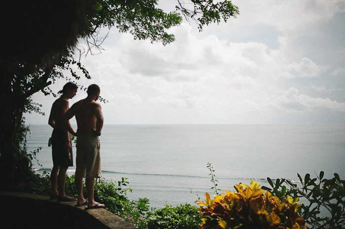 groom with his best man in Bali