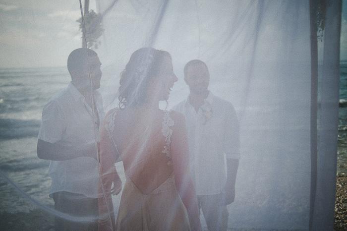 Bali wedding ceremony on the beach