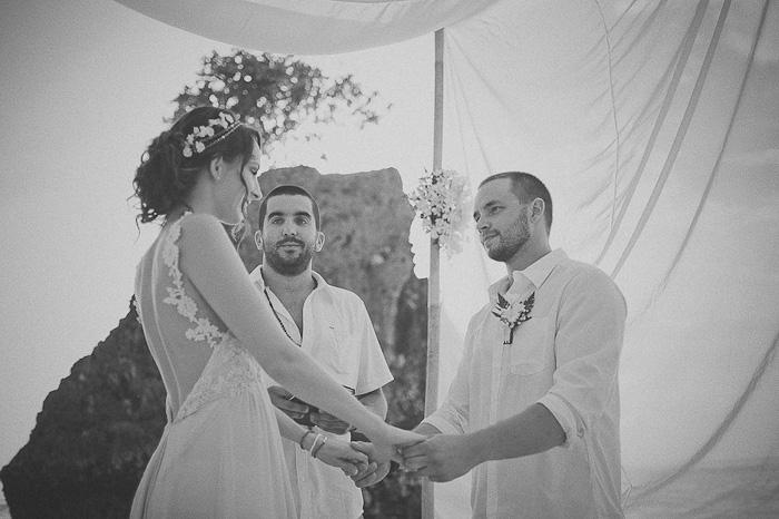 Bali beach wedding ceremony