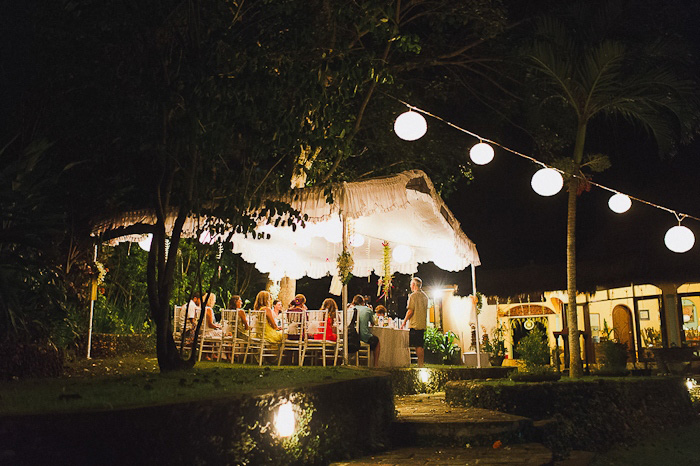 outdoor Bali wedding reception