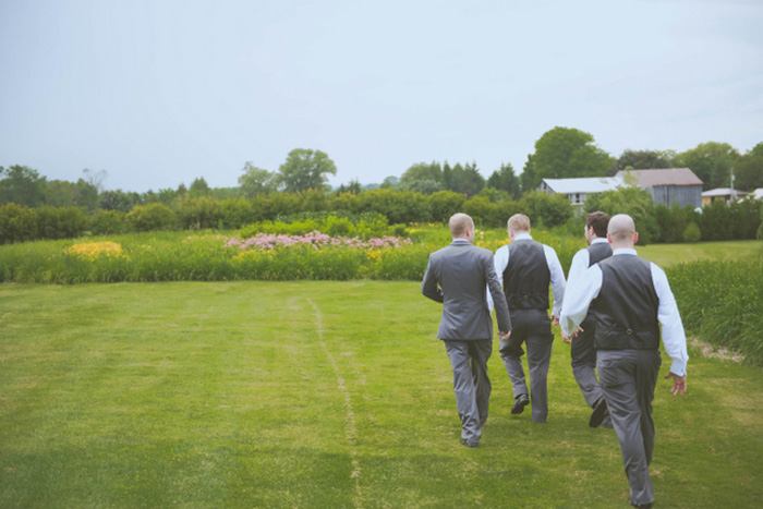 groomsmen heading to the ceremony