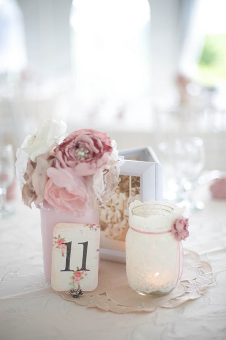 pink vintage table setting