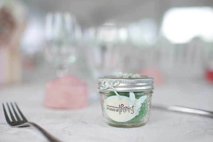 wedding favor in mason jar