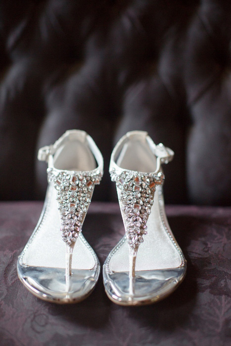 crystal beaded wedding shoes