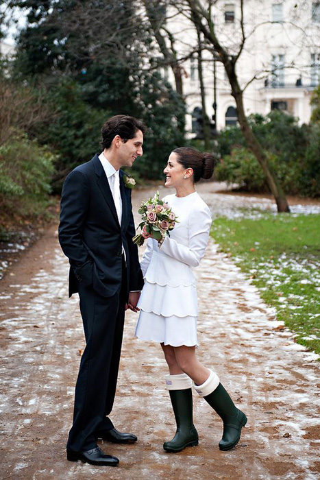 wedding hunter boots