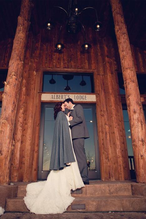 winter wedding cape