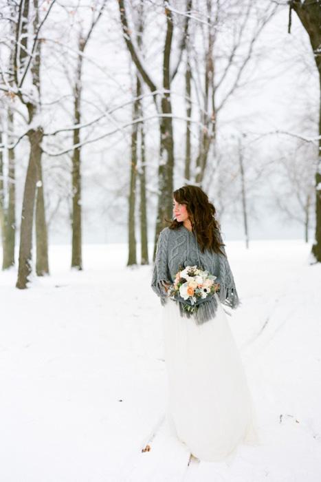 wool wedding capelet