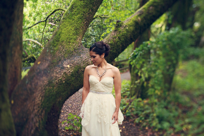 Bride in Muir Woods