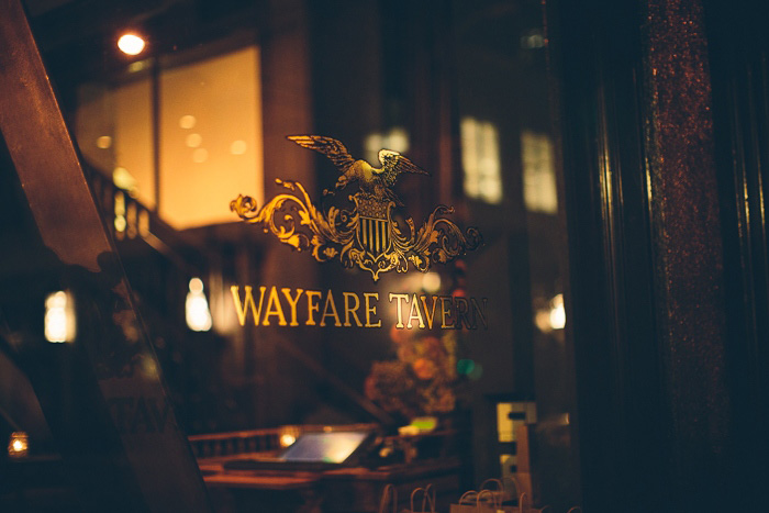 Wayfare Tavern window