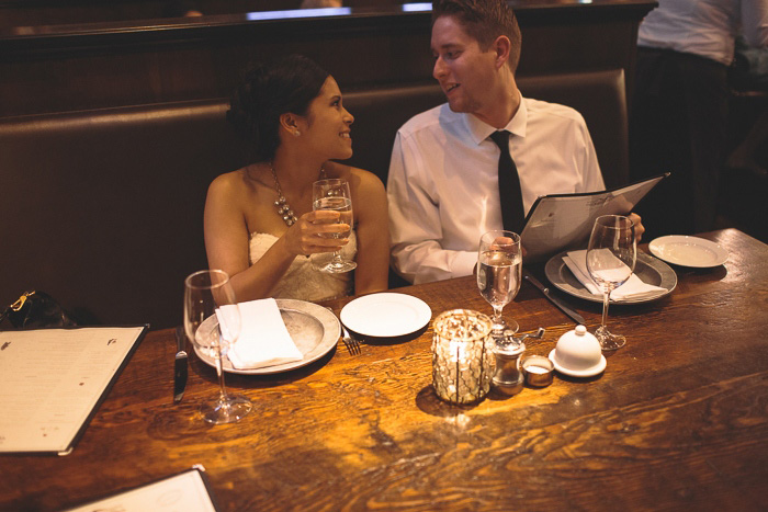 elopement dinner at Wayfare Tavern