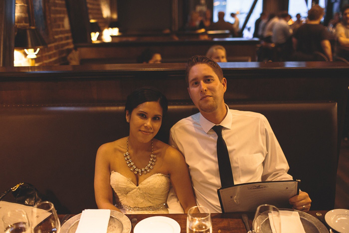 bride and groom at Wayfare tavern
