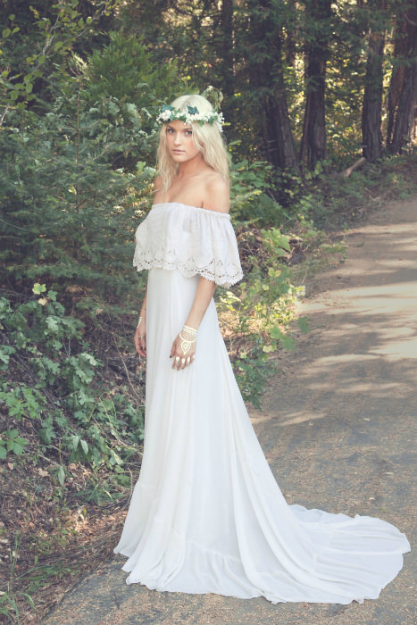 Vintage Hippie Wedding Dresses 1960s s and s brides tied