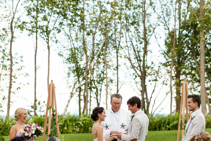 outdoor golf club wedding ceremony