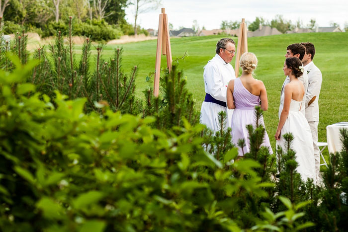 outdoor collingwood wedding ceremony