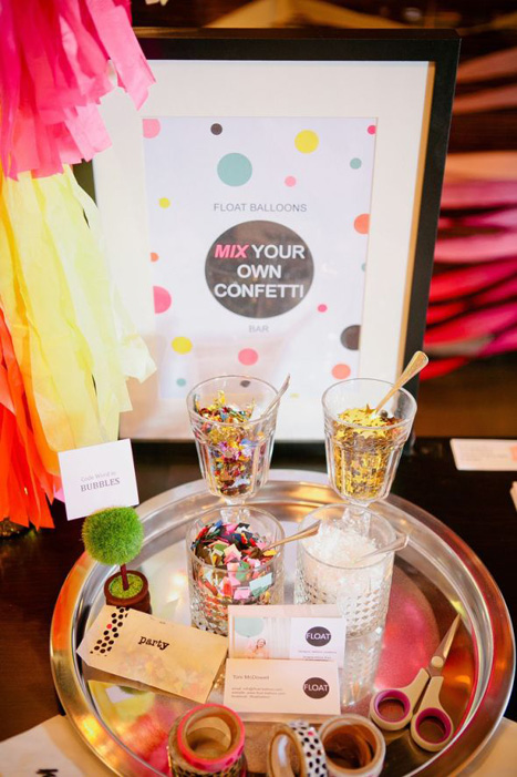 mix your own confetti bar