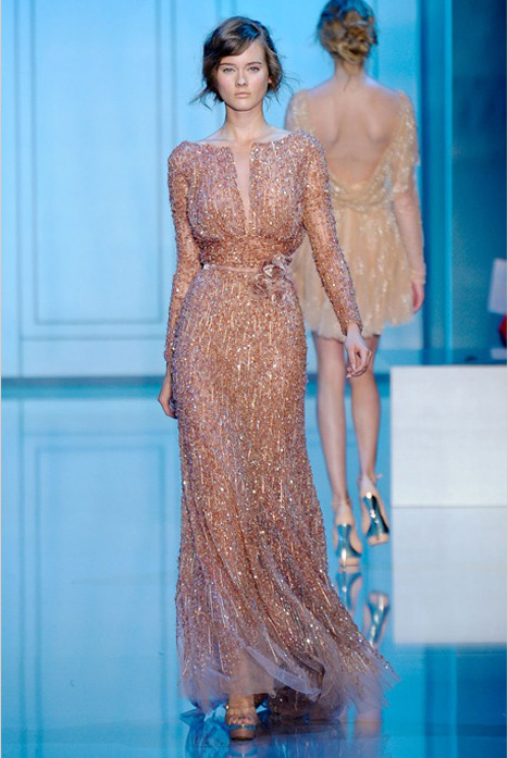 copper wedding dress