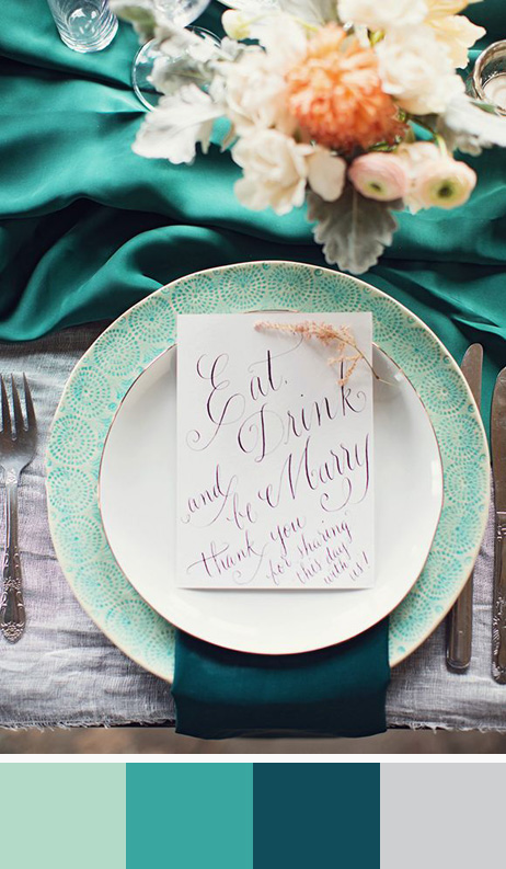 green wedding color palette